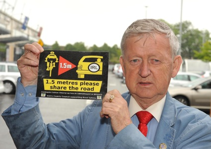 Cllr Donal Grady who allocated €1,000 to print safety stickers. Picture: Eamonn Keogan
