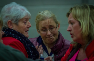 Norma Moriarty (centre) who polled an estimated 4,072 first preferences